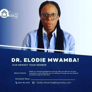 🚨🚨SPECIAL ANNOUNCEMENT🚨🚨 The Titan Realty Group brokered by eXp Realty would like to welcome Dr. Elodie Mwamba the team‼️Elodie will be partnering with the fastest growing brokerage in the World 🌎 To say we're honored to be in business with you on this new adventure is an understatement‼️ Be sure to follow Elodie online as she works to bless others with home ownership. God is good‼️ #titanrealtygroup #titanexp #workwiththebest #titanstrong #titanup #agentfreedom #revenueshare #exprealtyproud #exprealty #coaching #mentoring #gotstock #expi #retirement #wealthmindset #wealthbuilding #realestateagent #agentowned #DoTheMath #educator #agentobsessed